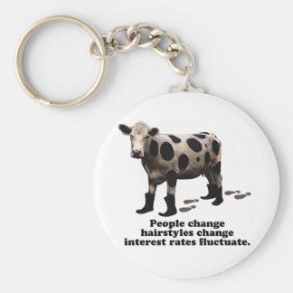 People change - Top secret cow Keychain