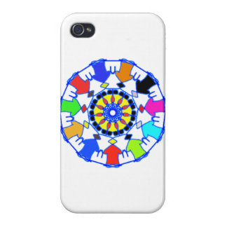 People circle pattern cases for iPhone 4