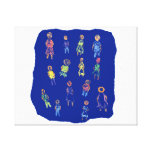 People Colorful Figures Drawing Torn paper against Gallery Wrap Canvas