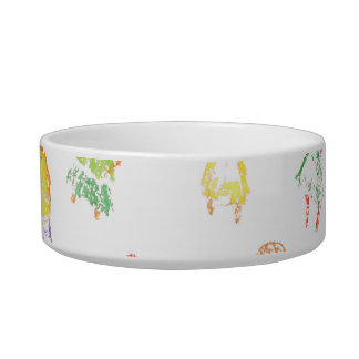 People Colorful Figures Drawing Torn paper clear b Cat Food Bowls