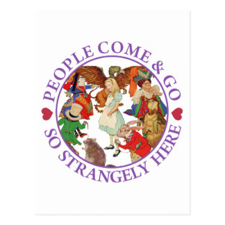 People Come and Go So Strangely Here - Purple Postcard