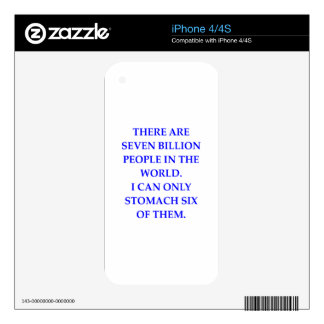 PEOPLE DECALS FOR iPhone 4S