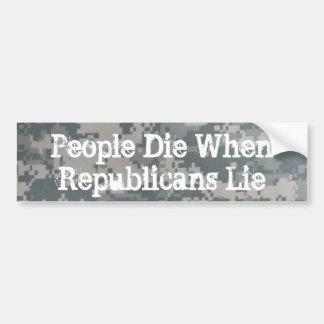 People Die When Republicans Lie Bumper Sticker