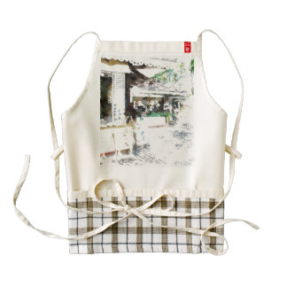 People doing purchasing in many shops zazzle HEART apron