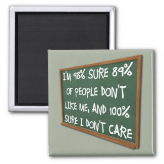 People Don't Like Me I Don't Care Funny Magnet