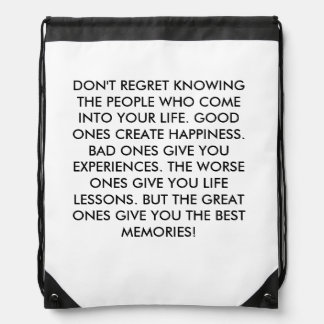 People Effect Our Lives Drawstring Backpack