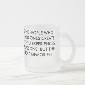 People Effect Our Lives Frosted Glass Coffee Mug