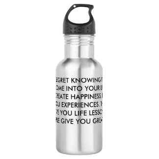 People Effect Our Lives Stainless Steel Water Bottle