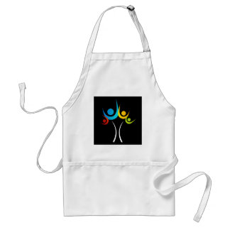 people embracing tree or nature adult apron