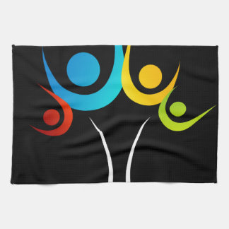 people embracing tree or nature kitchen towel