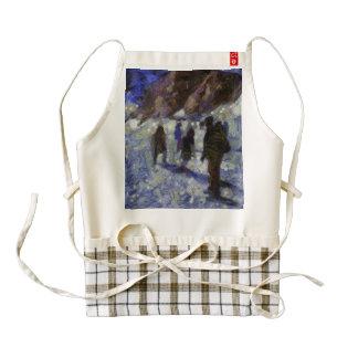 People enjoying on a glacier zazzle HEART apron