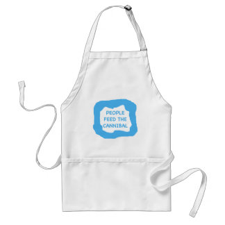 People feed the cannibal .png adult apron