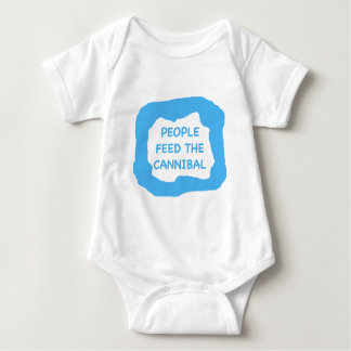 People feed the cannibal .png baby bodysuit