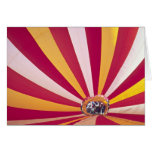 People filling a hot air balloon, Fort Collins, Greeting Card