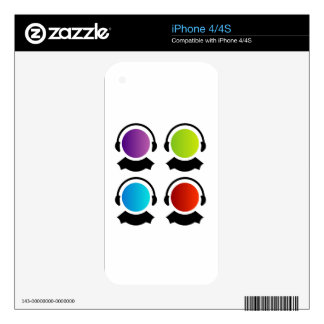 people for customer care center decal for iPhone 4