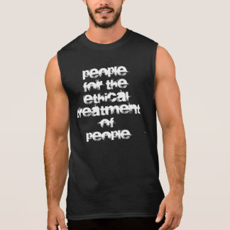 people for the ethical treatment of people - men's sleeveless shirt