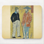 People from foreign lands by Ochiai,Yoshiiku Mouse Pad