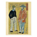 People from foreign lands by Ochiai,Yoshiiku Postcards