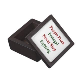People From Portugal Never Stop Fighting Premium Keepsake Box