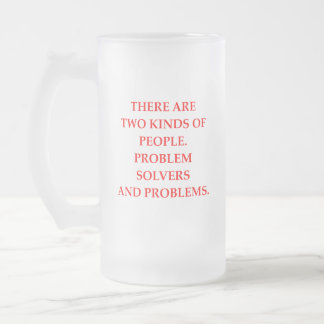 PEOPLE FROSTED GLASS BEER MUG