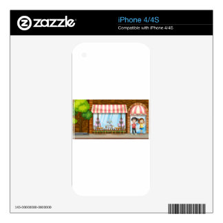 People hanging out at the bakery shop iPhone 4 decal