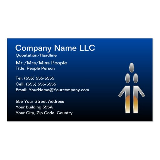 People, Human Resources Business Card Templates