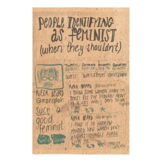 People identifying as feminist photo cork paper