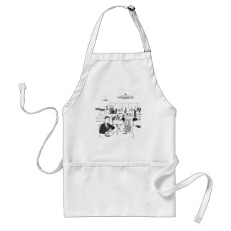 People in a Busy Restaurant Adult Apron
