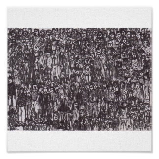 people in a crowd poster