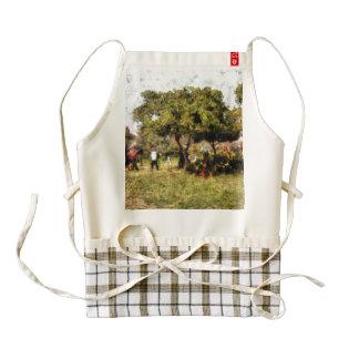 People in a garden zazzle HEART apron