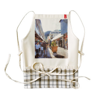 People in a shopping area zazzle HEART apron