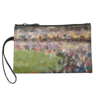 People in a stadium wristlet clutches