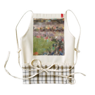 People in a stadium zazzle HEART apron