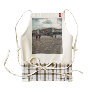 People in front of Great Hall of the People Zazzle HEART Apron