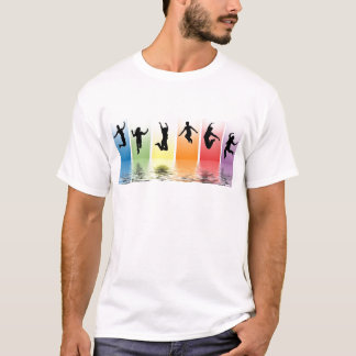 people jumping into water T-Shirt