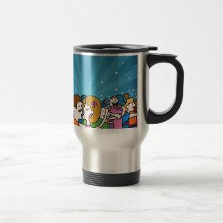 People Kissing and Hugging Cartoon Travel Mug