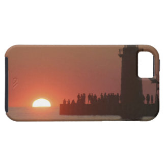 People lighthouse sunset silhouette at South iPhone SE/5/5s Case