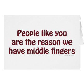 People Like You Fingers Card