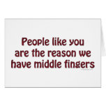 People Like You Fingers Greeting Cards