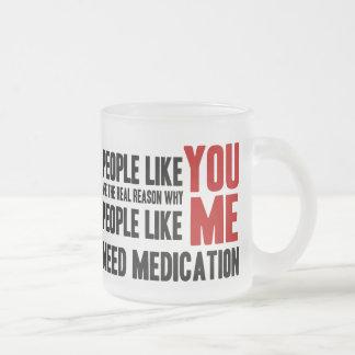 People Like YOU Frosted Glass Coffee Mug