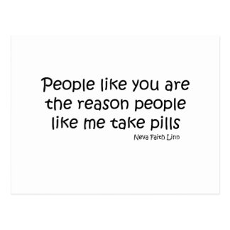 People Like You quote Postcard