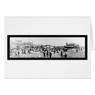 People Long Beach CA Photo 1908 Greeting Card