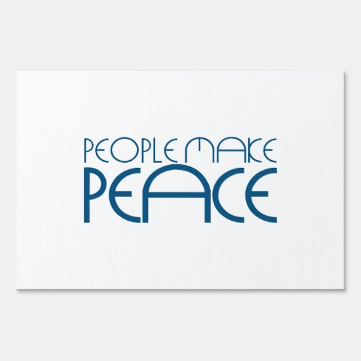 People make peace sign
