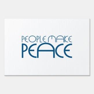 People make peace sign