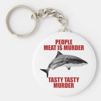 People Meat Is Murder Key Chains
