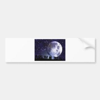 People Moon Night Peace Love Art Party Destiny Car Bumper Sticker