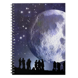 People Moon Night Peace Love Art Party Destiny Note Book