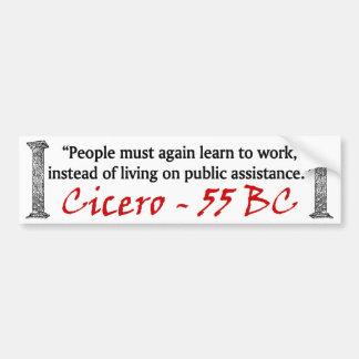 People Must Work - Cicero Bumper Sticker