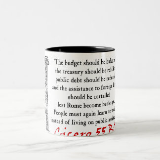 People Must Work - Cicero Two-Tone Coffee Mug