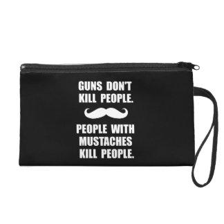 People Mustaches Kill Wristlet Purse